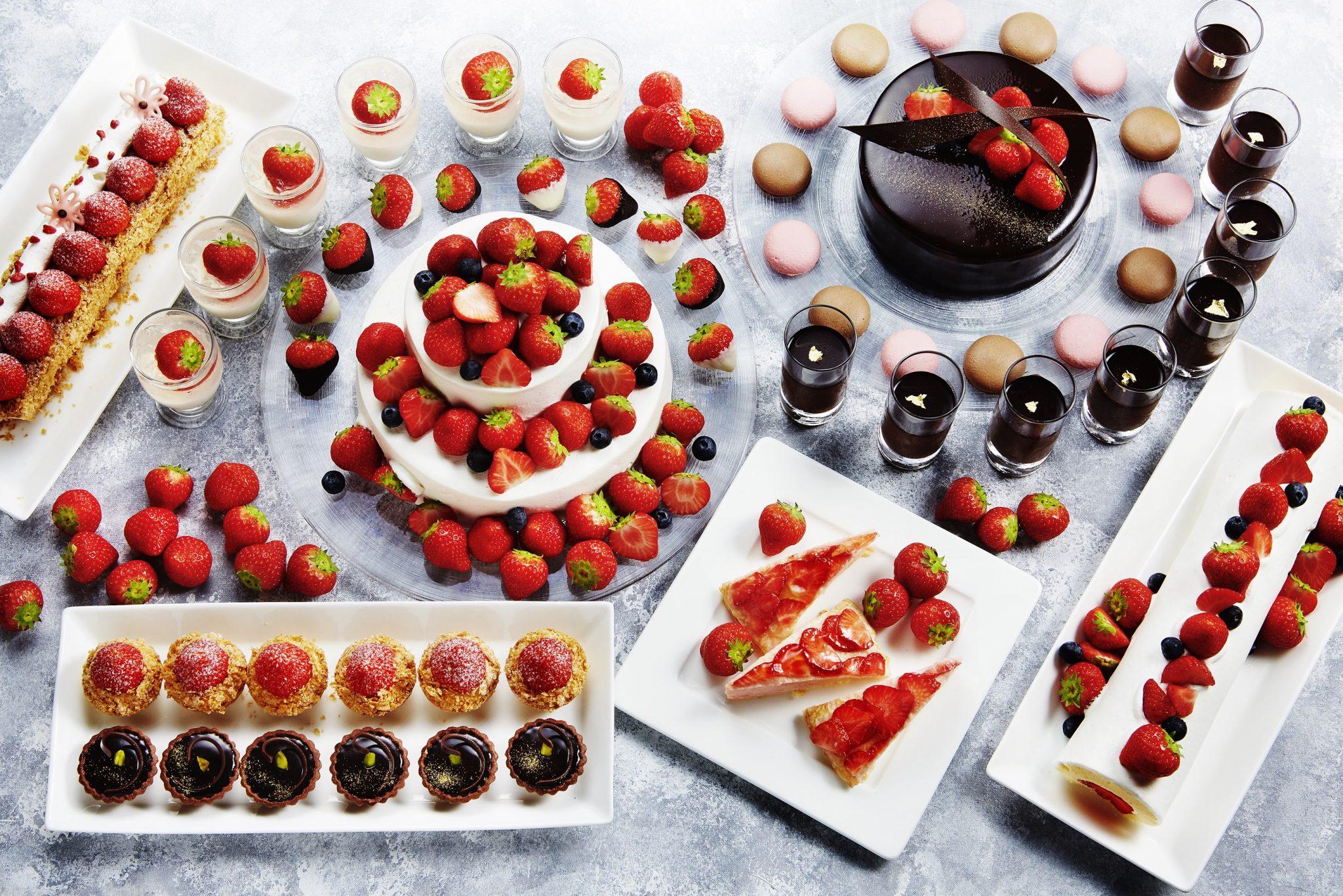 Spring Dessert Strawberry and Chocolate Buffet